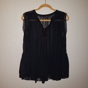 New size 16 Lane Bryant black blouse with lace